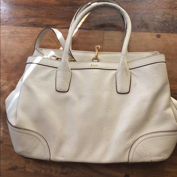 6f60ebf1014 Polo by Ralph Lauren Bags   Ralph Lauren White Leather Bag   Poshmark